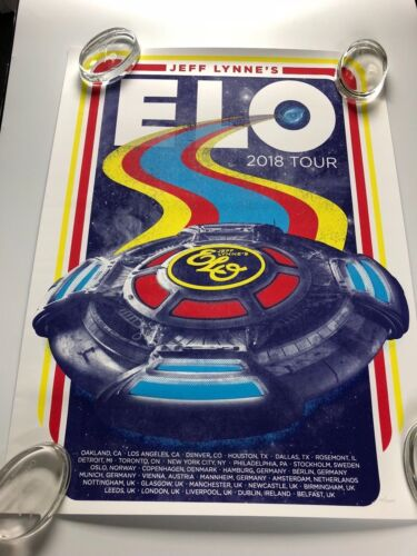 ELO Jeff Lynne 2018 Tour Concert Poster Limited Edition Hand Numbered