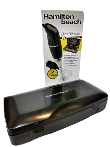 Hamilton Beach Hand Blender With 2 Attachments 200watts Case