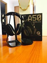 ASTRO A50 WIRELESS (Black/Blue) - PREMIUM WIRELESS GAMING HEADPHONES Delahey Brimbank Area Preview
