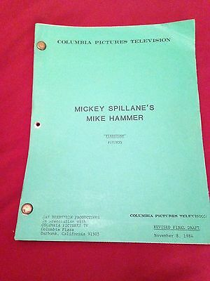 MICKEY SPILLANE'S MIKE HAMMER ORIGINAL 1984 TV SHOW SCRIPT Stacy Keach