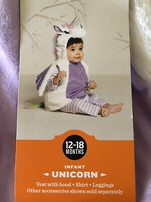 Hyde and Eek! Halloween Infant Plush Unicorn Costume 12-18M