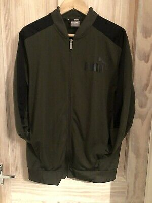 Mens Green Puma Zip Up Jacket Size Medium