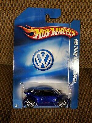 Hot Wheels Mexico VW Dealer Exclusive Blue Volkswagen New Beetle Cup
