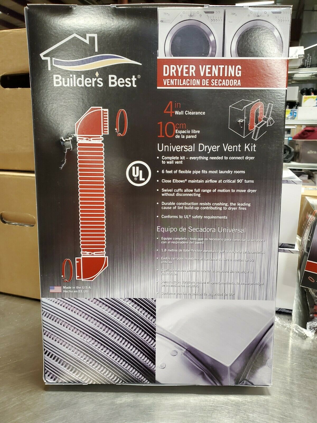 Builders Best 080117 Universal Dryer Vent Kit