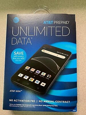 """Brand New AT&T Axia Prepaid Phone 5.5"""", No Contract, Free Shipping!"""