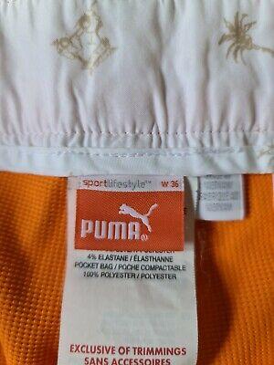 Puma orange golf shorts 36