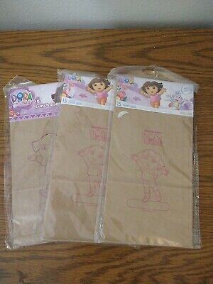 Lot Of 3 Dora The Explorer 15 Pack Paper Bags