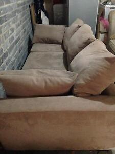 contemporary faux suede sofa Cammeray North Sydney Area Preview
