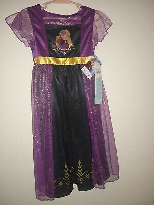 Disney Frozen 2 Dress Up Gown Anna. Size XS Flame Resistant. 100% polyester. NWT