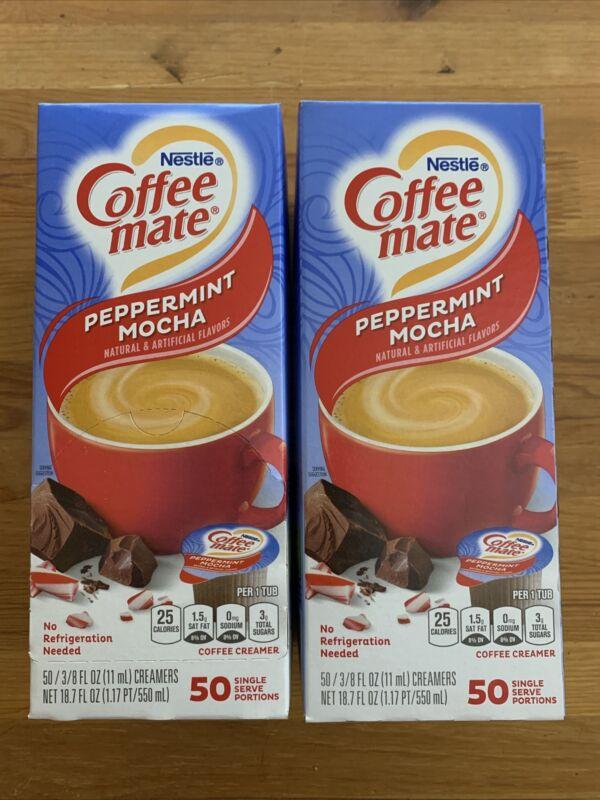 2 X Coffeemate Liquid Coffee Creamer - Peppermint Mocha - 50 Count Each