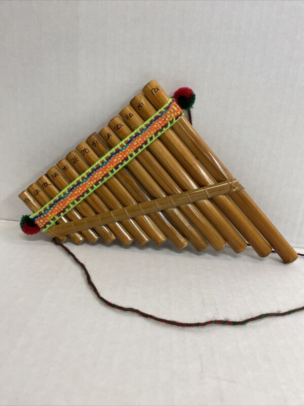 WOOD PAN FLUTE PANFLUTE 13 PIPES / PIPE WOODWIND WOOD WIND INSTRUMENT