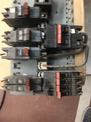 Federal Pacificstab-lokcircuit Breakers Lot Includes Buss Bar