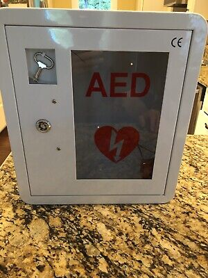 Stainless Steel Aed Cabinet Wall Mount Strobe Light Door-activated Alarm Key