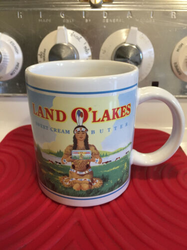 Land O Lakes Sweet Cream Butter 10 oz Coffee Mug Retired Maiden Logo