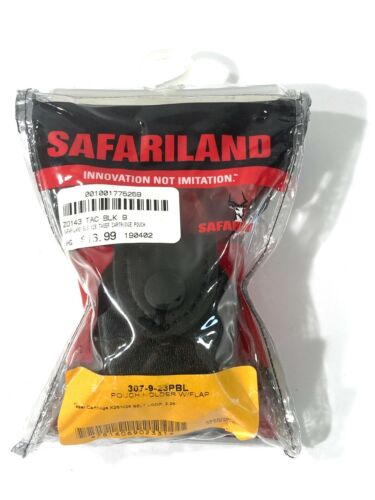 SAFARILAND 307-9-23PBL TASER CARTRIDGE X26/M26 PLAIN FINISH POUCH HOLDER W/FLAP