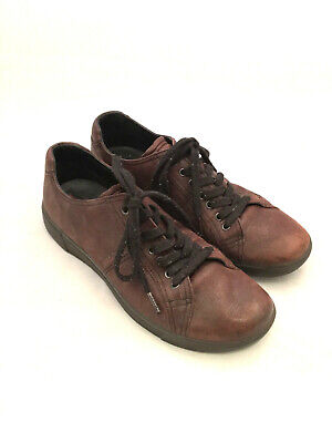 Mens - PRADA - VTG Classic Brown Leather Oxford Fashion Sneakers 7.5