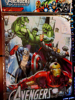 "Marvel AVENGERS Assemble Stretchable Fabric Book cover Fits Books over 8"" x 10"" for sale  Huntsville"
