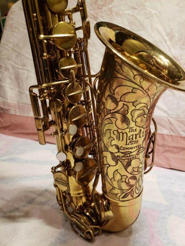 "NEW PRICE! Martin Committee III ""The Martin"" Alto Saxophone !AMAZING ENGRAVING!"