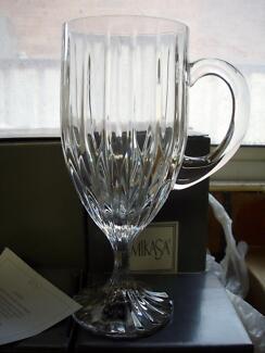 Mikasa 'Park Lane' crystal -coffee / tea / dessert / beer glasses