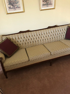 Antique 60s Style Long Sofa Couch