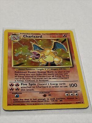 Charizard Base Set Unlimited Holo Rare 4/102 Pokemon NM+ PSA Worthy