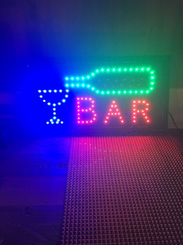 Bar light with Lighted Words and Image