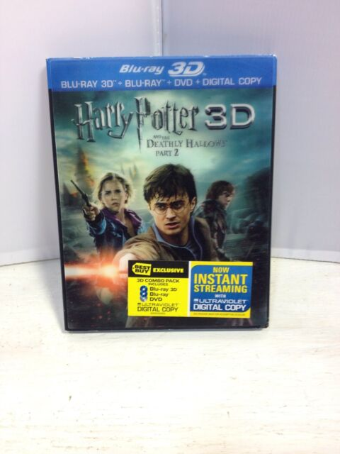 Harry Potter and the Deathly Hallows: Part II Blu-ray/DVD, 2011, 4-Disc Set