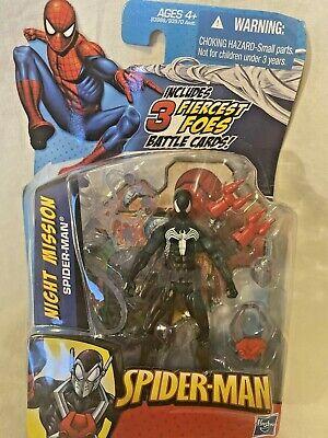 "Marvel Universe NIGHT MISSION BLACK SUIT Spider-man 3.75"" figure"