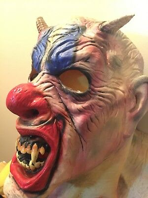 Scary Clown Face Demon Halloween Mask - Scarey Clown Face