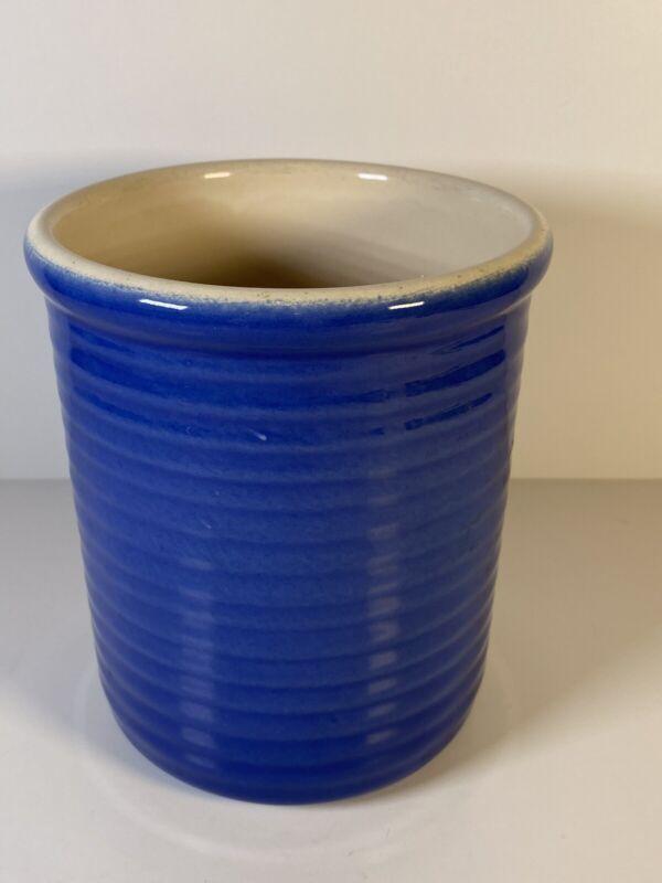 Emile Henry 87.63 Dark Blue Stoneware Utensil Storage Holder Crock(L11E4B7)