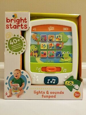 Bright Starts Lights & Sounds Funpad Musical Toy ABC's Musical Learning Toy NEW
