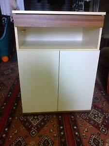 Microwave/tv cabinet with serving tray and one shelf on castors Ballina Ballina Area Preview