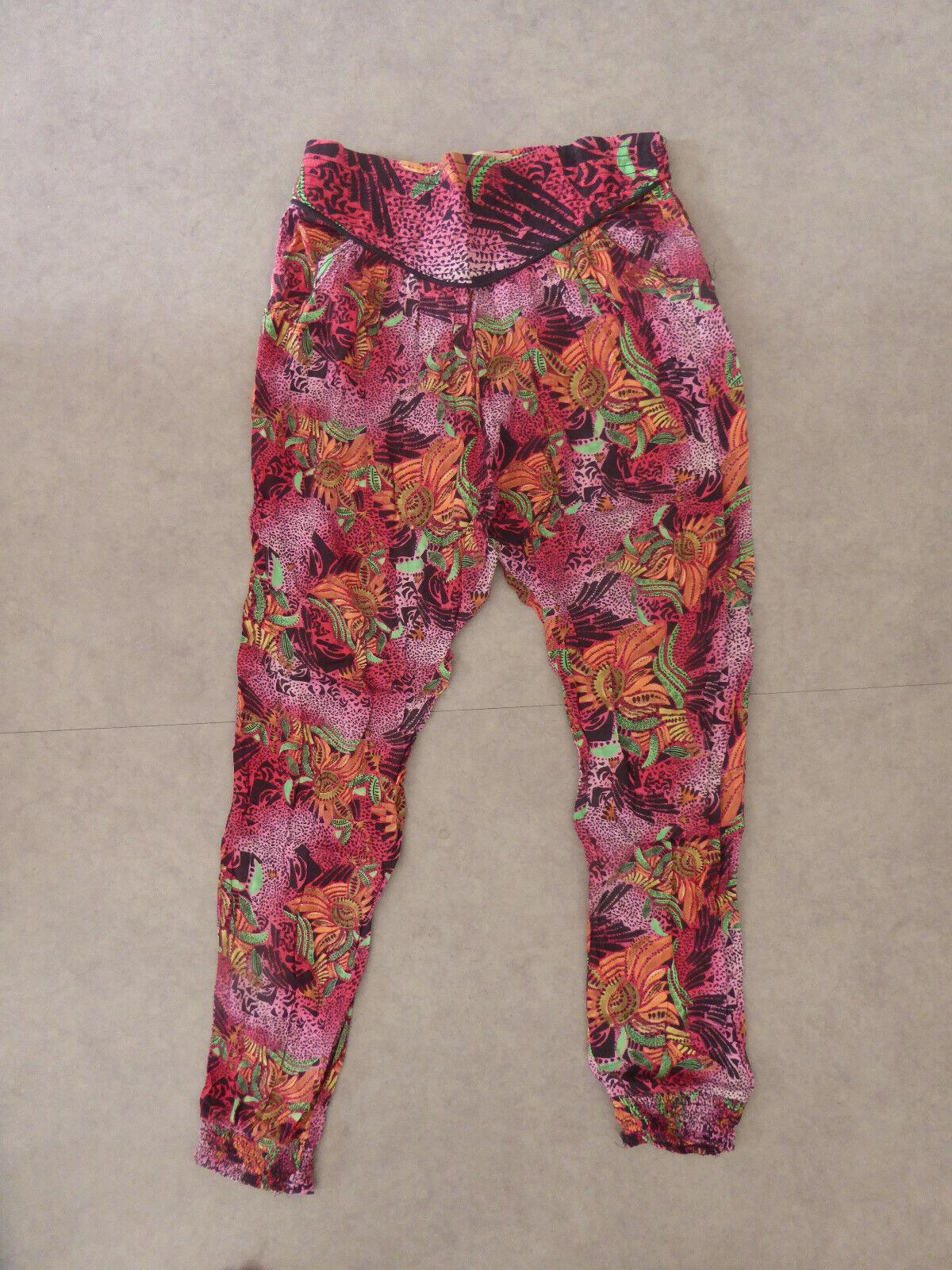 Pantalon fluide imprimé tropical bershka - l