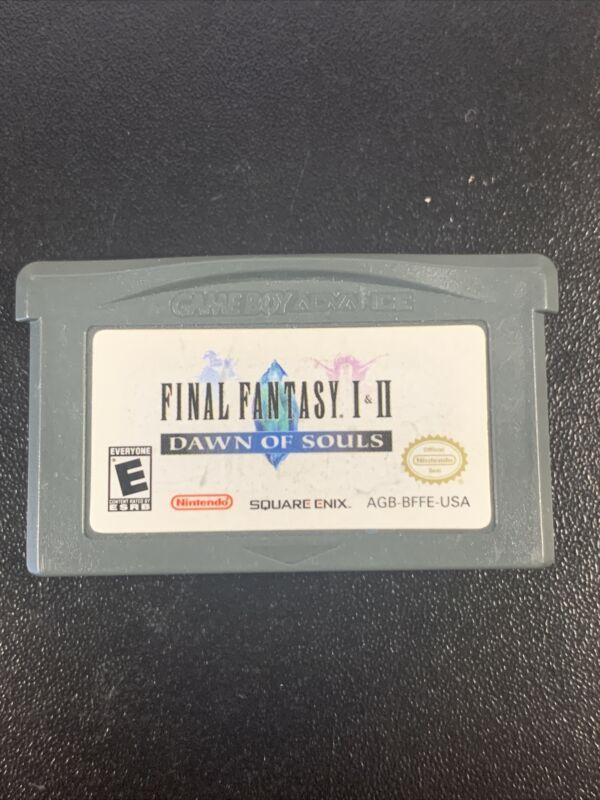 Final Fantasy I & II: Dawn of Souls (Nintendo GBA) TESTED & WORKING