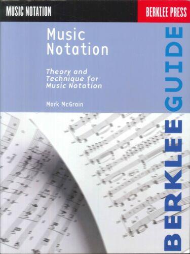 Music Notation 1986 McGrain Berklee Theory Technique Pitch Rhythm Placement
