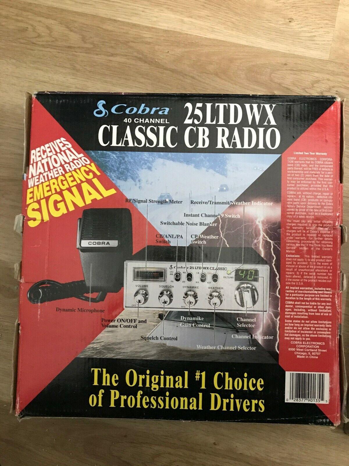 NEW Cobra 25 LTD WX Classic 40 Channel Mobile CB NIB