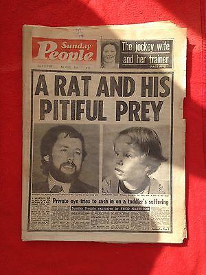 Sunday People newspaper 3rd July 1977