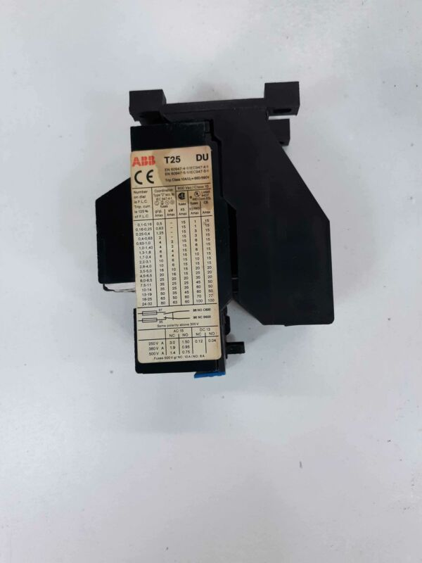 ABB T25DU Thermal Overload Relay T25 DU  4.5-6.5A