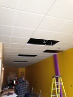 Acoustic ceilings/ T-bar ceilings