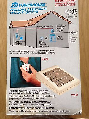 POWERHOUSE PERSONAL ASSISTANCE SECURITY SYSTEM MODEL PA5800