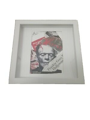 signed Original Frankenstein horror street collage movie art framed