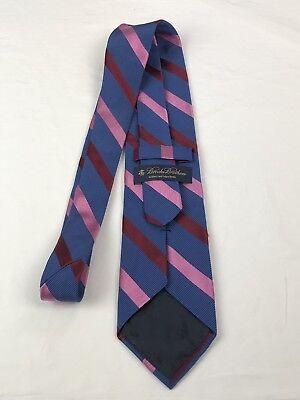 Pink Stripe Tie (Brooks Brothers Makers Men's Tie Necktie Blue Red Pink Stripe )