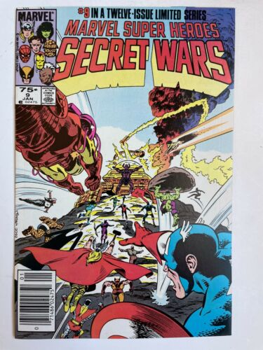 Marvel Super-Heroes Secret Wars #9 - Spider-Man Hulk Iron Man X-Men Comics NM