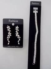 crystal stone bracelet & earrings set - jewellery Auchenflower Brisbane North West Preview
