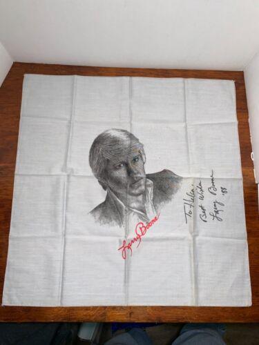 Vintage Larry Boone autographed Concert Tour Scarf Bandana souvenir memorabilia