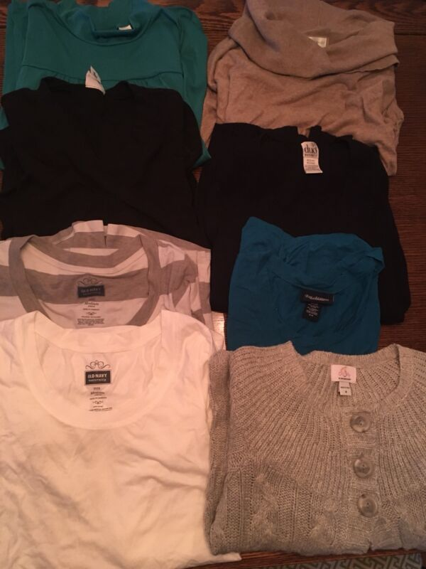 MATERNITY Set of 8 Tops SIZE M Long And 3/4 Sleeved Cheap Group
