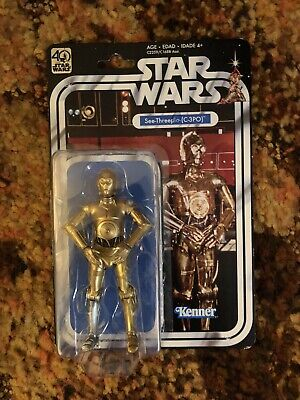 "Star Wars 40th Anniversary 6"" C3PO Hasbro Black Series, NEW Wave 2"