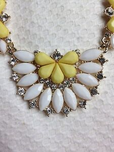 White, Gold, Yellow, Diamond like stud Necklace | adjustable length East Melbourne Melbourne City Preview