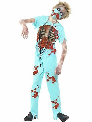 Kids Living Dead Zombie Surgeon Boys Halloween Horror Fancy Dress Childs Costume - Dead Surgeon Halloween Costume