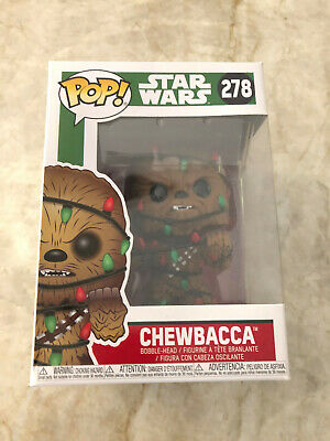 Pop Star Wars Chewbacca With Christmas Lights #278 Funko